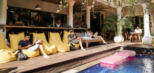 Coworking by the pool at Dojo Bali